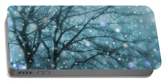 Winter Evening Snowfall Portable Battery Charger