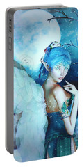 Winter Fairy In The Mist Portable Battery Charger