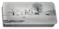 Winter Farm 2 Portable Battery Charger by Christine Lathrop