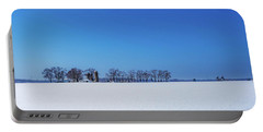 Winter Farm Blue Sky Portable Battery Charger
