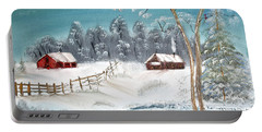 Winter Farm Portable Battery Charger