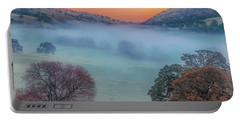 Winter Fog At Sunrise Portable Battery Charger