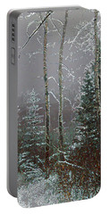 Portable Battery Charger featuring the digital art Winter Fog by Stuart Turnbull