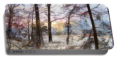 Winter Forest Portable Battery Charger by John Rivera