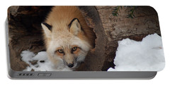 Portable Battery Charger featuring the photograph Winter Fox by Richard Bryce and Family