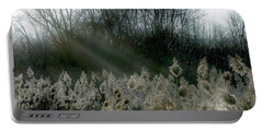 Portable Battery Charger featuring the photograph Winter Fringe by Kendall McKernon