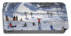 Winter Fun Portable Battery Charger by Andrew Macara
