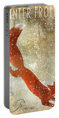 Winter Game Fox Portable Battery Charger by Mindy Sommers