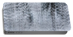Portable Battery Charger featuring the photograph Winter Glow- by JD Mims