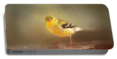 Winter Goldfinch Portable Battery Charger