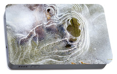 Portable Battery Charger featuring the photograph Winter Ice by Christina Rollo