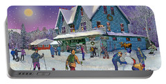Winter In Campton Village Portable Battery Charger by Nancy Griswold