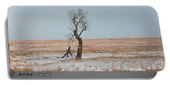 Winter In Kansas Portable Battery Charger