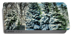 Winter In New England Portable Battery Charger