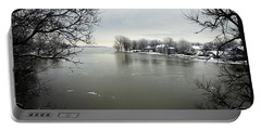 Winter In Quebec Portable Battery Charger