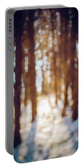 Winter In Snow Portable Battery Charger