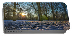 Winter In The Park Portable Battery Charger