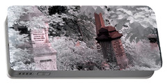 Portable Battery Charger featuring the photograph Winter Infrared Cemetery by Helga Novelli