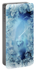 Winter Is Here - Jon Snow And Ghost - Game Of Thrones Portable Battery Charger