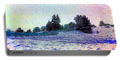 Winter Landscape 2 In Abstract Portable Battery Charger