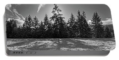 Winter Landscape - 365-317 Portable Battery Charger by Inge Riis McDonald