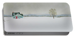Winter Landscape Portable Battery Charger