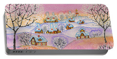 Winter Landscape, Painting Portable Battery Charger