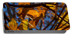 Winter Leaf Portable Battery Charger by Derek Dean