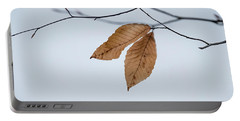 Winter Leaves Portable Battery Charger by Tom Singleton