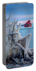 Winter Lighthouse Portable Battery Charger
