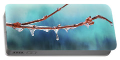 Winter Magic - Gleaming Ice On Viburnum Branches Portable Battery Charger