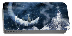 Winter Moon Portable Battery Charger by Mihaela Pater