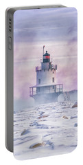 Winter Morning At Spring Point Ledge Portable Battery Charger