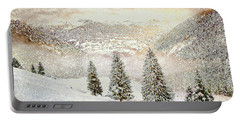Portable Battery Charger featuring the digital art Winter Morning by Kai Saarto
