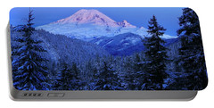 Winter Morning With Mount Rainier Portable Battery Charger