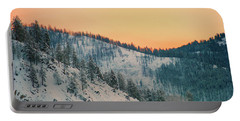 Winter Mountainscape  Portable Battery Charger