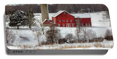 Winter On A Farm Portable Battery Charger