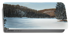 Winter On An Ontario Lake  Portable Battery Charger