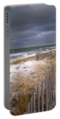 Winter On Cape Cod Sandy Neck Beach Portable Battery Charger