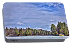Portable Battery Charger featuring the photograph Winter On The Pond by David Patterson