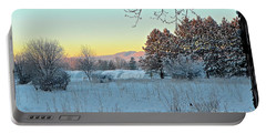 Winter On The Tree Farm Portable Battery Charger
