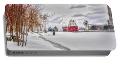 Winter Owen Sound Harbour Portable Battery Charger
