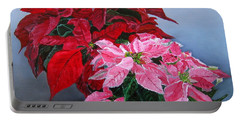 Winter Poinsettias Portable Battery Charger