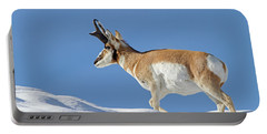 Winter Pronghorn Buck Portable Battery Charger
