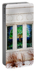 Winter Quarters Temple Tree Of Life Stained Glass Window Details Portable Battery Charger