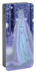 Winter Queen Portable Battery Charger by Amyla Silverflame
