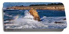 Winter Rainbows In The Surf Portable Battery Charger