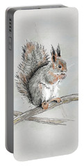 Winter Red Squirrel Portable Battery Charger