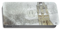 Winter Scene A La Van Gogh Portable Battery Charger by Yvonne Wright