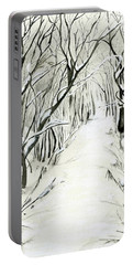 Winter Scene Portable Battery Charger by Nadine Dennis